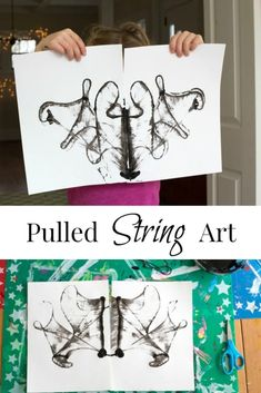Gonna try this with my daughter who loves art! SLReflections Photography How to make beautiful pulled string art by combining mirror-image string blottos with a pulling technique. Try on a small or large scale and with 1 or more colors. via Artful Parent Canvas Art Projects, Craft Projects For Kids, Arts And Crafts Projects, Scale Art, Middle School Art, Art Activities, Activity Ideas, Art Lesson Plans, Art Classroom