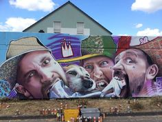 "Street Art byXi-Design in Wiesbaden, Germany entitled ""still hungry plakatètè"" - die dixons ontourwegs in deutschland!!!"