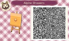 """town-of-veritian: """" Since my first post with alpine drawers was popular, I made drawers for the two other wood colours. The first pair have wood grain, but they look a bit grainy on small 3DS screens, so I included the simpler version as well. [Link..."""