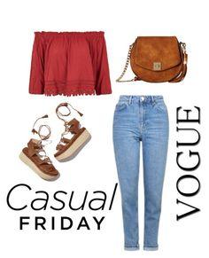 """""""Casual Friday: Bardot"""" by rositafashionista on Polyvore featuring moda, Topshop, Stuart Weitzman y Gabriella Rocha"""