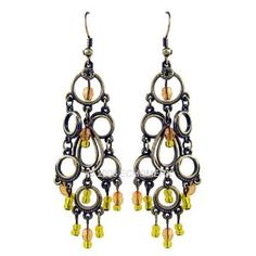 Vintage Style Earrings Multi Tier Circles
