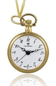 Catorex Women's 675.6.12376.121 Les petites rayonnantes White Dial Second Hand Gold Plated Hand Painted Back Pendant Watch Catorex. $247.50