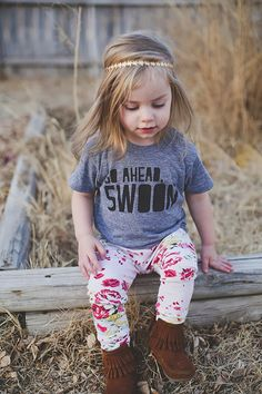 Go Ahead, Swoon Kids Tee from The Printed Palette