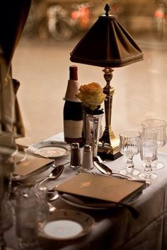 Exquisite table for two.