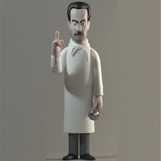 The Soup Nazi (Larry Thomas) from Seinfeld vinyl doll by A Large Evil Corp.