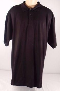 Mens NEW Cocona Black Soft Golfing Polo Shirt Size 2XL NWT #Cocona #PoloRugby