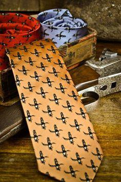 Buffalo Jackson Apricot Ducks Necktie dixiepickersstore.com