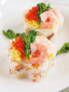 ごはんを梅の形に抜いて♡ひな祭りのちらし寿司アイデア♪