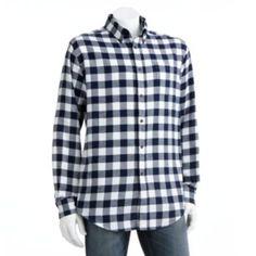 Croft & Barrow Plaid Flannel Button-Down Shirt - Men