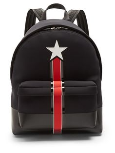 GIVENCHY Star And Stripe Neoprene Backpack. #givenchy #bags #leather #lining #backpacks #lace #