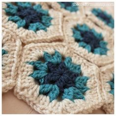 These are the colors I want to try with the pattern I just posted (the super simple hexagons)