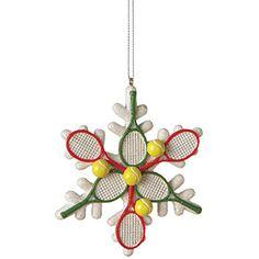 Un original ornamento para esta Navidad. ¡Deportes de raqueta siempre presentes!  http://bquet.com/