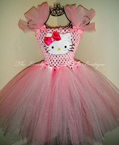 DIY+Tutu+Dresses | Hello Kitty Tutu Dress #diy #crafts