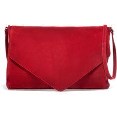 Zara Suede Messenger Bag ($40) ❤ liked on Polyvore