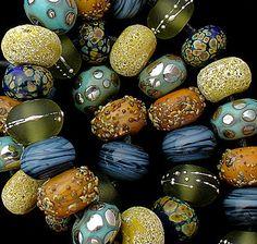 DSG Beads Handmade Organic Lampwork Glass - Made To Order (Bahama Mama) - Debbie Sanders
