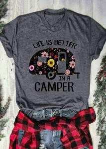 Camping Tips And Advice Straight From The Experts - Life Shirts - Ideas of Life Shirts - T-Shirt Short Sleeve Life Is Better In A Camper Letter Print Camping Checklist, Family Camping, Camping Gear, Camping Hacks, Camping Stuff, Outdoor Camping, Camping Essentials, Camping Cabins, Camping Guide