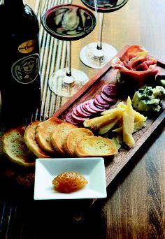 Meat and Cheese starter plate from Eduardo's Enoteca