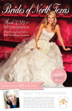 Meghan Ortowski,daughter in law of Dorian Ortowski, our gorgeous Spring/Summer 2013 cover of Brides of North Texas by @Tracy Autem Photography! #wedding #magazine #cover #bride
