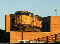 High quality photograph of Union Pacific EMD # UP 8094 at Saint Louis, Missouri, USA. Union Pacific Train, Union Pacific Railroad, Grand Funk Railroad, Railroad Companies, Different Points Of View, Milwaukee Road, Southern Railways, Pennsylvania Railroad, America And Canada