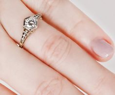 Antique 1910s Platinum & 14k Gold Diamond by TheCopperCanary
