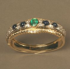 An Exceptionally Fine French, Belle Epoch Emerald : Lot 73