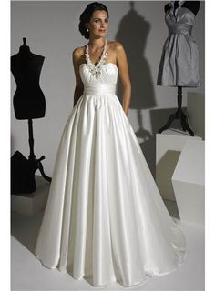 Strapless Wedding Gown, Ruched Bodice