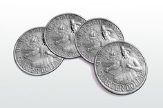 Quarter Dollar Magnetic round Coasters Including by elcomdesign