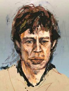 """Ronnie Wood Art Collection - """" Mick"""" (The Others Suite) - 13.4""""x10.3"""" Digital '02 / Edt 290, AP 30, PP 15.  See the Ronnie Wood Collection - http://www.rockstargallery.net/ronnie-wood-art #ronniewood #rollingstones  #mickjagger  #rockstargallery"""