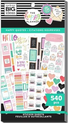 561 Stickers Multicolor Bookish Theme Great for Journals Scrapbooks /& Albums Scrapbooking Supplies The Happy Planner Value Pack Sticker Sheets