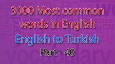 English to Turkish | 1951-2000 Most Common Words in English | Words Star...