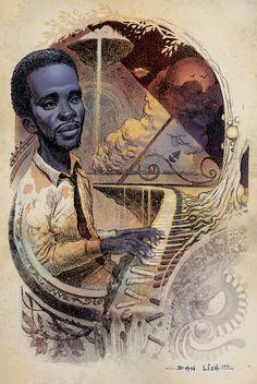 Ahmad Jamal Part of the Ego Strip series by Dan Lish www.danlish.com www.facebook.com/danlish01 http://danlishartworks.bigcartel.com