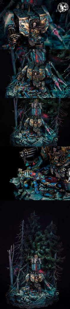 Space Wolves Bjorn the Fell-Handed diorama
