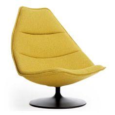 Artifort - Lounge Chair by Geoffrey Harcourt RDI Modern Swivel Chair, Swivel Armchair, Chair And Ottoman, Modern Chairs, Steel Furniture, Retro Furniture, Ikea Furniture, Furniture Logo, Furniture Cleaning