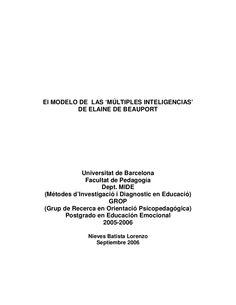 El modelo de las múltiples inteligencias de elaine de beauport by Teofilopolicarpo via slideshare