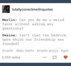 Basically describes their entire friendship