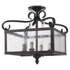 Showcasing a hand-painted finish and scrollwork accents, this convertible semi-flush mount pairs Old World charm with contemporary detailing. Let it cast a w...