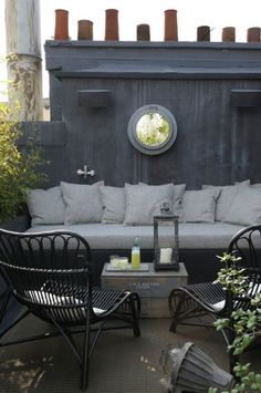 Outdoor Patio/Terrace in Shades of Gray {via sonialafage.com}