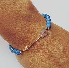 bransoletki - minerały-Strzała w jeansowych kamieniach Bracelets, Jewelry, Fashion, Moda, Jewels, Fashion Styles, Schmuck, Jewerly, Bracelet