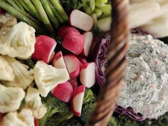 Easter Crudites Basket with Spinach Dip recipe from Ree Drummond via Food Network