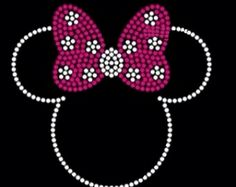 Minnie Mouse Rhinestone Bling Transfer Designs For Kid's Tshirts created with high quality rhinestones. Rhinestone Crafts, Rhinestone Transfers, Rhinestone Shirts, Minnie Mouse Pink, Mickey Minnie Mouse, Disney Diy, Disney Crafts, Dot Painting Tools, Disney Iron On