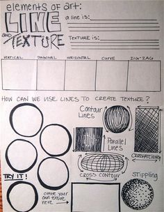 Line and Texture. Michael Catalano.  There are also other examples of worksheets to create.