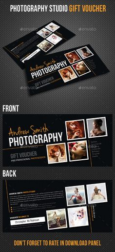 Photography Studio Gift Voucher Template. Download: http://graphicriver.net/item/photography-studio-gift-voucher-02/9760748?ref=ksioks