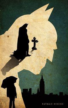 fan posters Batman Begins by Nicole Esche