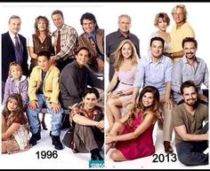 Then Now - Boy Meets World/Girl Meets World So excited for girl meets world! Turner in the 2013 one and Mr. Mathews looks really old, (no offense) Riley Matthews, Cory Matthews, Jurassic World, Thats 70 Show, Cory And Topanga, World Quotes, Old Shows, Girl Meets World, Book Tv