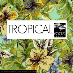 Tecidos para o masculino com inspiração Tropical agora no e-book! Para acessar clique na imagem. #moda #fashion #tropical #cores_vibrantes #florais #folhagens #printed #estampas #xadrezes #listrados #focustextil