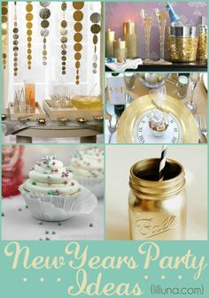 A collection of 10+ New Years Party Ideas including decor, crafts and more to use for your next New Years Party. { lilluna.com }