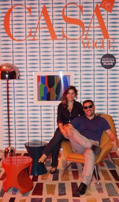 Capa da Revista Casa Vogue 2015 Arquiteta Raquel Andrade e Daniel Miranda.