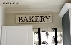 Bakery Sign - no stencil.