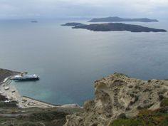Athinios Port in Santorini, Greece