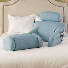 The BedLounge in a beautiful light blue color. Sold exclusively by Gumps.